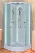 ESBANO Led Душевая кабина, поддон-15 см, стекла-рифленые, профиль-белый, с LED-подсветкой