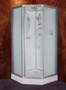 ESBANO PR Душевая кабина, 5-угольная, поддон-15 см, стекла-рифленые, профиль-матовый хром