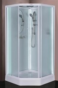 ESBANO Led Душевая кабина, стекла-рифленые, профиль-белый, с LED-подсветкой