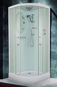 ESBANO CR Душевая кабина, 90х90х210, полукруглая, стекло 5мм прозр., профиль-белый