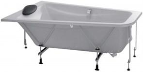 JACOB DELAFON Odeon Up Ванна (160 x 90 см) асимметричная (левосторонняя) в комплекте с рамой, черной подушкой и хромированными ручками.