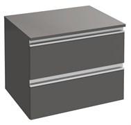 JACOB DELAFON Vox Дополнительный модуль 60 см, 2 выдвижных ящика, серый антрацит
