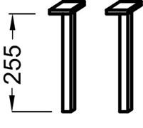 JACOB DELAFON Furniture Elements Ножки 25,5 см