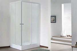 ROYAL BATH HPD 100x115 Душевой уголок прямоугольный, стекло 6 мм матовое, профиль алюминий  белый, дверь раздвижная