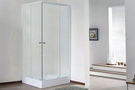 ROYAL BATH HPD 85x95 Душевой уголок прямоугольный, стекло 6 мм матовое, профиль алюминий  белый, дверь раздвижная