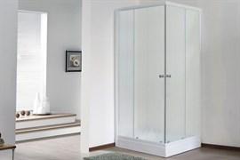 ROYAL BATH HPD 75x85 Душевой уголок прямоугольный, стекло 6 мм матовое, профиль алюминий  белый, дверь раздвижная
