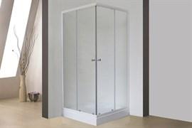 ROYAL BATH HPD 85x80 Душевой уголок прямоугольный, стекло 6 мм матовое, профиль алюминий  белый, дверь раздвижная