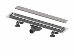 """Комплект TECElinus для монтажа дренажного канала с основой для плитки """"tile"""" и панелью """"steel"""" 2 в 1, 800мм"""