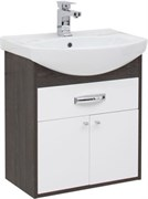 AQUANET Грейс 60 Тумба для ванной комнаты с раковиной (1 ящик, 2 дверцы)