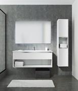 SANVIT КОНТУР Тумба подвесная для ванной комнаты с раковиной, 1 выдвижной ящик, 1 открытая ниша
