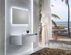 SANVIT Кубэ-1 Тумба подвесная для ванной комнаты с раковиной, 1 выдвижной ящик