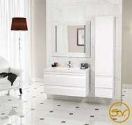 SANVIT ТЕМА Тумба подвесная для ванной комнаты с раковиной, 2 выдвижнных ящика